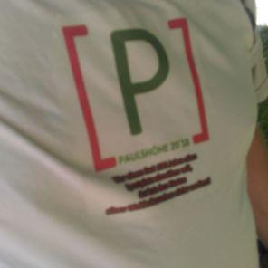 Selbst gemachtes Unterstützer T-Shirt. Danke.